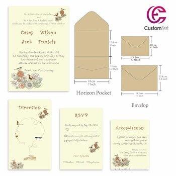 30pcs/lot personalized pocket card set loving birds pocket envelop+matching envelop+card+RSVP free shipping PKEE035V103