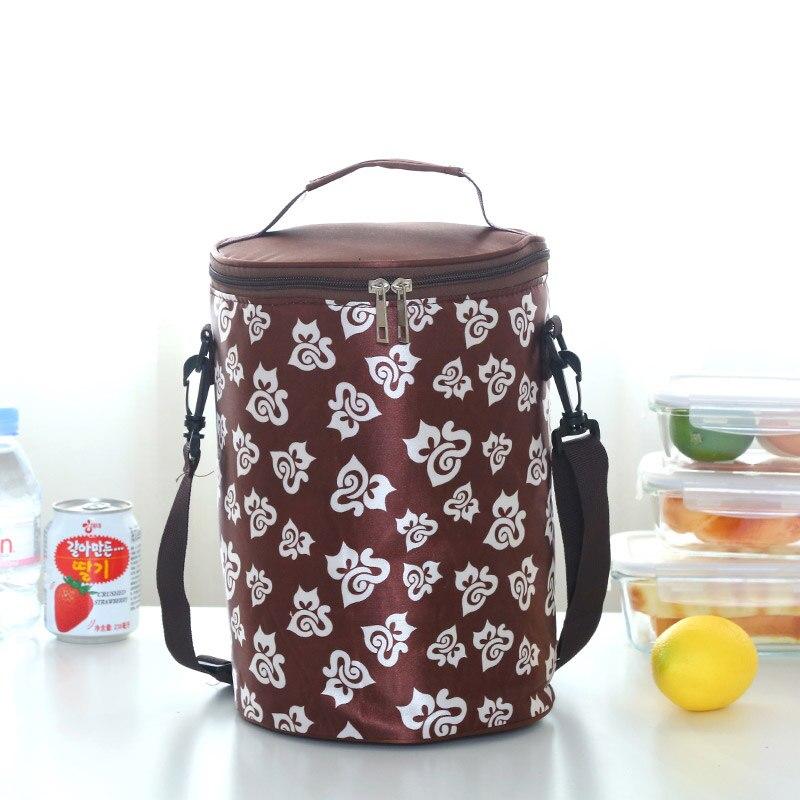 Круглые коробки сумка для ланча Водонепроницаемая Термосумка ремень для барабана portableLarge - Цвет: Хаки