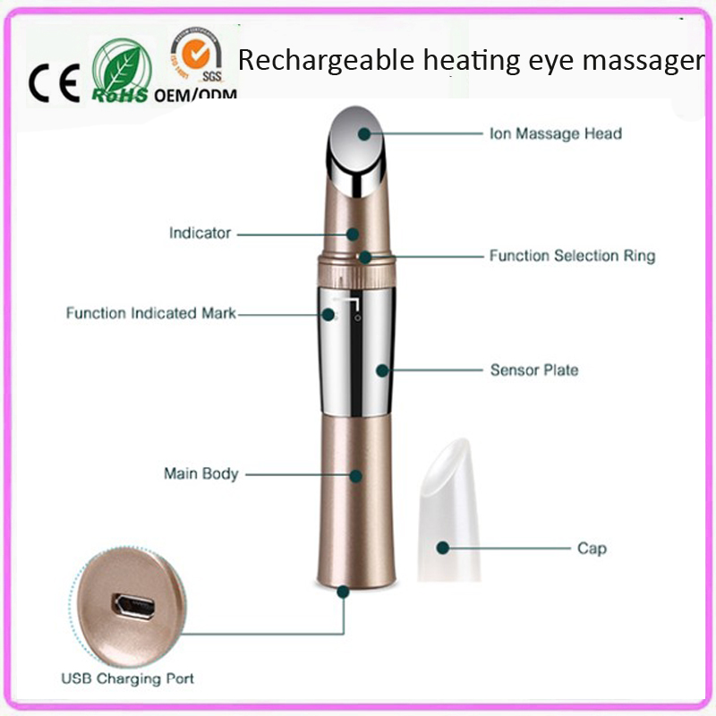 High Frequency Vibrating Infrared Warming Ion Import Face Forehead Eye Lift Beauty Care Skin Stimulation Facial Firming Machine