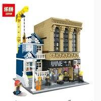Lepin 15035 The Bars And Financial Companies 2841 Pcs Mini Bricks Set Sale Creative MOC Series