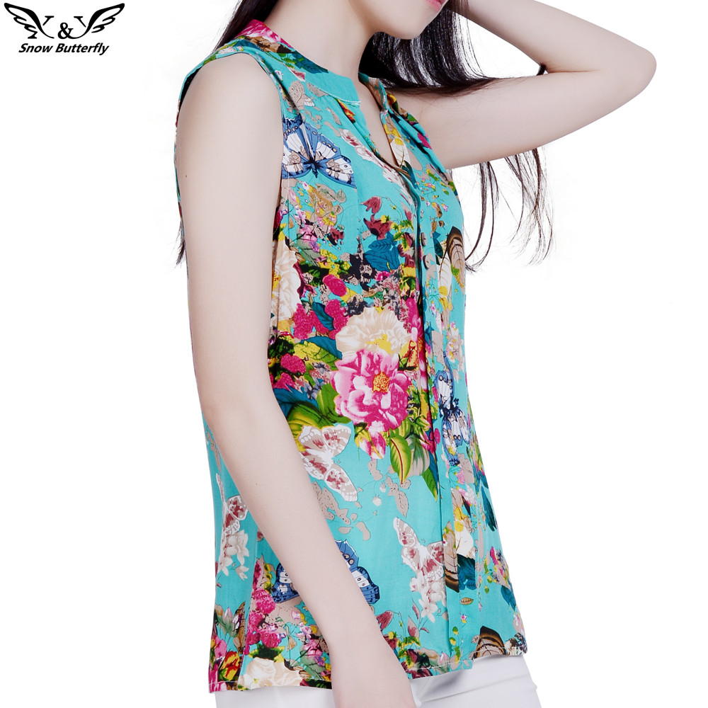2019 High Quality Summer Style Kimono Blouses Top Plus Size S-4xl Cotton Printed Sleeveless Casual Women Shirts Blusas Tops Famous For High Quality Raw Materials, Full Range Of Specifications And Sizes, And Great Variety Of Designs And Colors