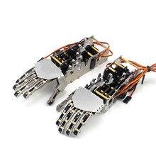 5DOF металлическая рука робота/пять пальцев/мини бионическая рука/захват/робот/автомобильные аксессуары/серебро/Сделай сам