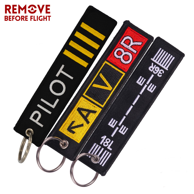 Fashion Pilot Key Chain Bijoux Keychain For Flight Crew Aviation Promotion Gifts Tag Porte Clef OEM Key Ring Mixed 3 PCS/LOT