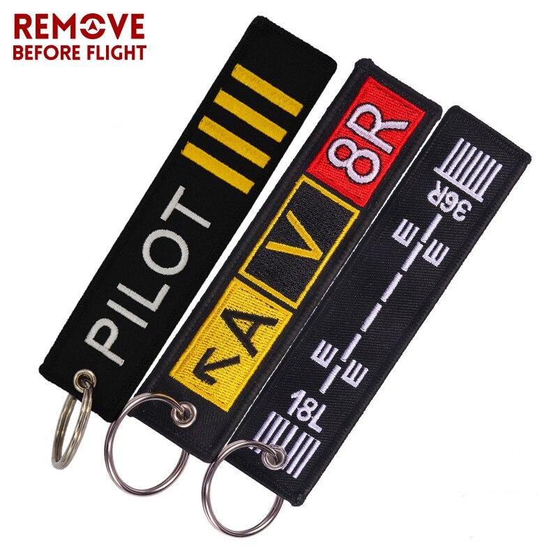 Mode pilote porte-clés Bijoux porte-clés pour l'équipage de vol Promotion de l'aviation cadeaux étiquette Porte Clef OEM porte-clés mélangé 3 PCS/LOT