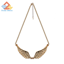 Women Fashion Choker Necklace Jewelry Angel Wings Gold Color Necklace Wedding Jewelry
