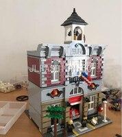 LEPIN 2313Pcs Lepin 15004 City Street Creator Fire Brigade Model Building Kits Blocks Bricks Compatible 10197