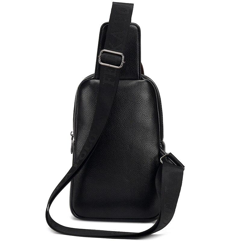 MIWINDBrand Bag Men Chest Pack Single Shoulder Strap BackBag Leather Travel Men Crossbody Bags Vintage Rucksack Chest Bag TND083