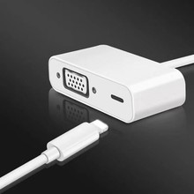 For iPad iPhone 8Pin Interface to VGA Adapter 1080p HD Video Converter Adaptor For iphone5s/6/6s/7/8/X ipad for iphone 8pin interface to hdmi vga jack audio tv adapter cable converter for iphone x 8 7 7plus 6 6s for ipad series