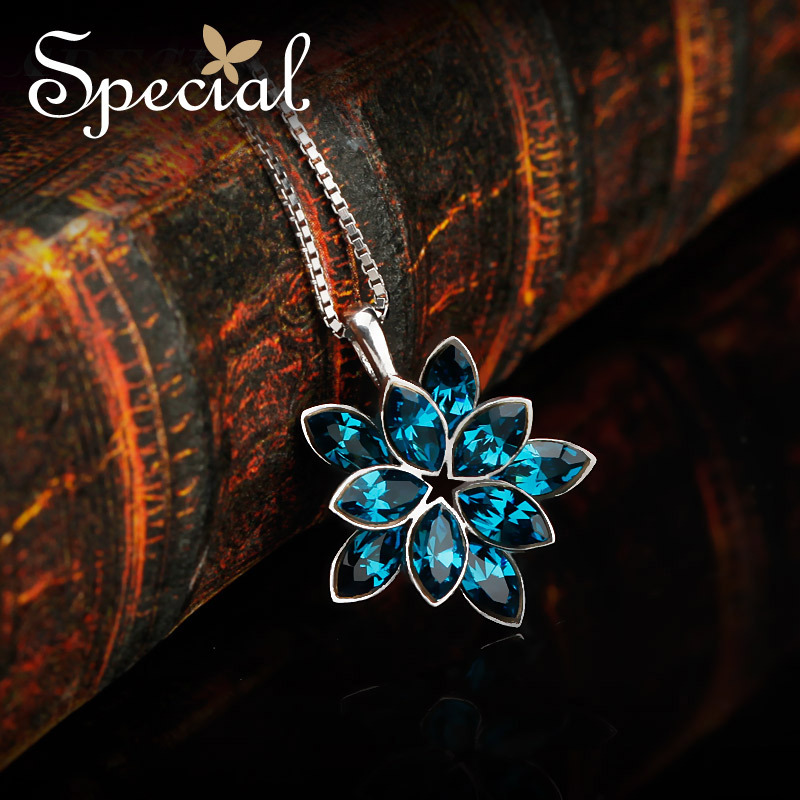 Special New Fashion 925 Sterling Silver Maxi Necklaces Flower Choker Necklaces Vintage Jewelry Gifts For Women