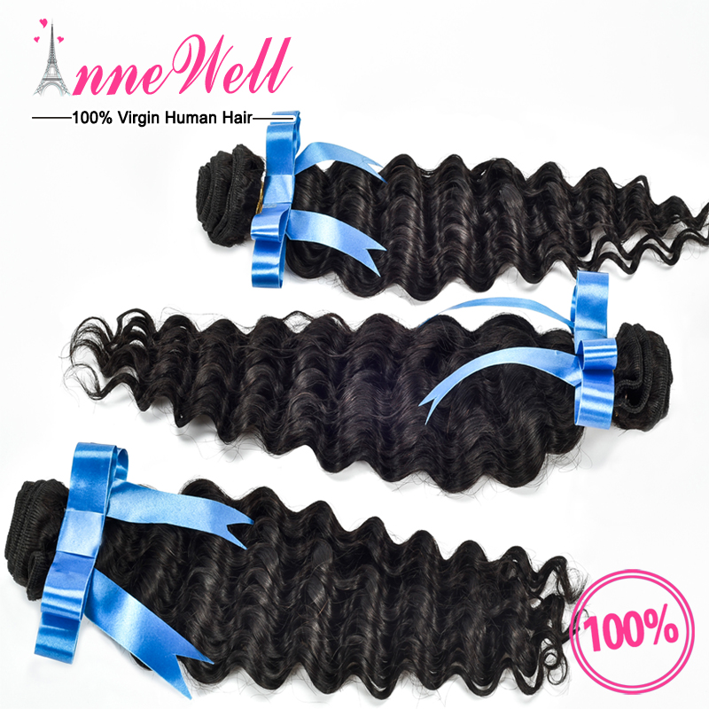 Peruvian Deep Curly Virgin Hair 4 Bundles Peruvian Deep Wave 6A Unprocessed 100 Human Hair Virgin Peruvian Hair Weave Bundles от Aliexpress INT