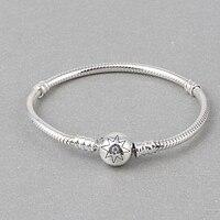 ZMZY Authentic 925 Sterling Silver Snake Chain Bracelet For Women Charms Bracelets Bangle Jewelry