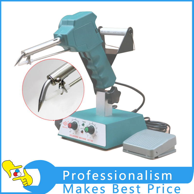 HCT-80 Soldering Machine Foot TypeTin Machine Adjustable Thermostat Tin Machine Automatic Out Tin Electric Soldering Iron automatic tin feeding machine constant temperature soldering iron teclast multi function foot soldering machine f3100a