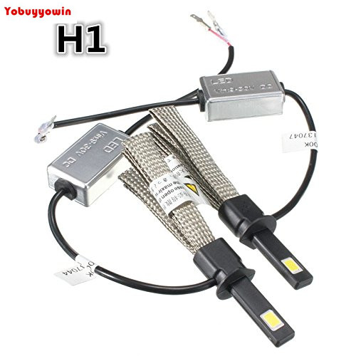 60W H1 Phare Voiture <font><b>LED</b></font> <font><b>Etanche</b></font> IP68 Antibrouillard 6400LM Ampoule Auto Headlight Kit Vehicule Lampe DC 9-30V