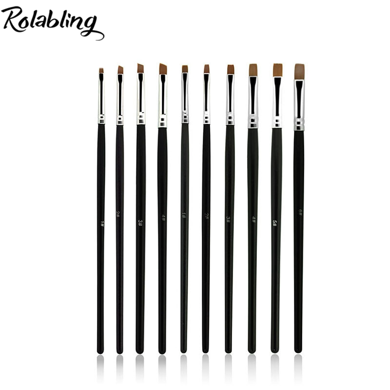 Hotsale 100pcs/pack 10 Different Size Nail Art Set Brush UV gel brush Pens Nail Art Paint Dot Detailed Tool for Nail Art hotsale 100