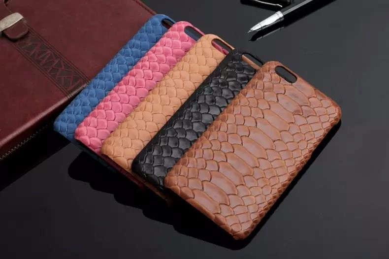 5 color snake pattern genuine leather case for iPhone 6 iPhone 6 Plus phone