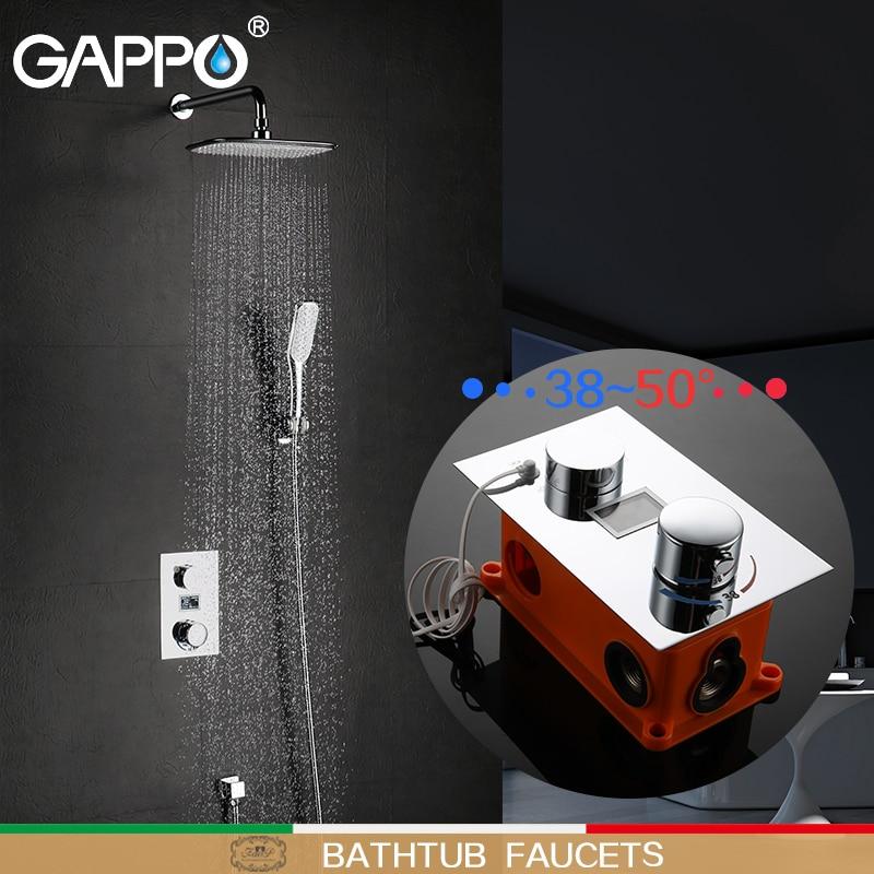 GAPPO bathtub faucet bath faucets LED taps bathroom shower taps mixer waterfall bath tub waterfall wall mounted faucet