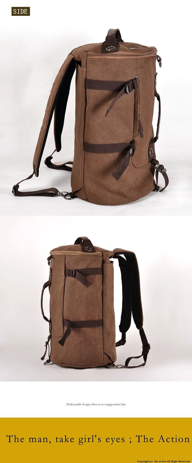 Men's Multi-Functional Backpack Vintage Shoulder Bag High Quality Canvas Male Bagpack Rucksack Travel Luggage for Weekend 31
