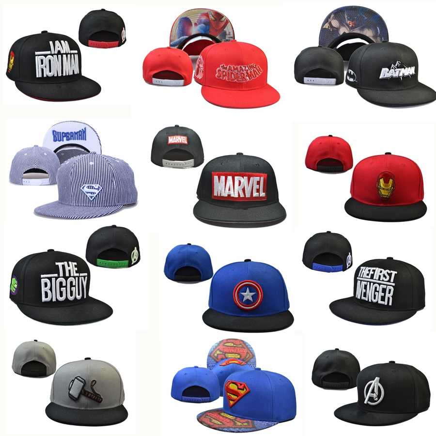 Marvel DC superhero Baseball Cap Snapback Trucker hat the Avengers cotton Adjustable  Hip Hop Hat embroidery e4e382cb2a10