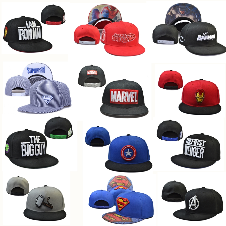 3b513a16ae3 Detail Feedback Questions about Marvel DC superhero Baseball Cap Snapback  Trucker hat the Avengers cotton Adjustable Hip Hop Hat embroidery cap  christmas ...