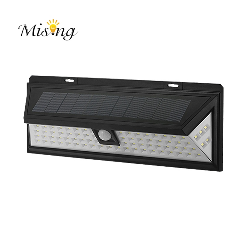 Mising Waterproof 80 <font><b>LED</b></font> Solar <font><b>Light</b></font> <font><b>Outdoor</b></font> Garden <font><b>Light</b></font> PIR Motion Sensor Emergency Wall Solar Lamp 3.7V