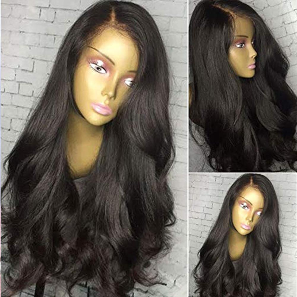 Simbeauty Natural Wavy 13x6 360 Lace Front Human Hair Wig Glueless Brazilian Virgin With Baby Hair Silk Base FullLace Wig U Part
