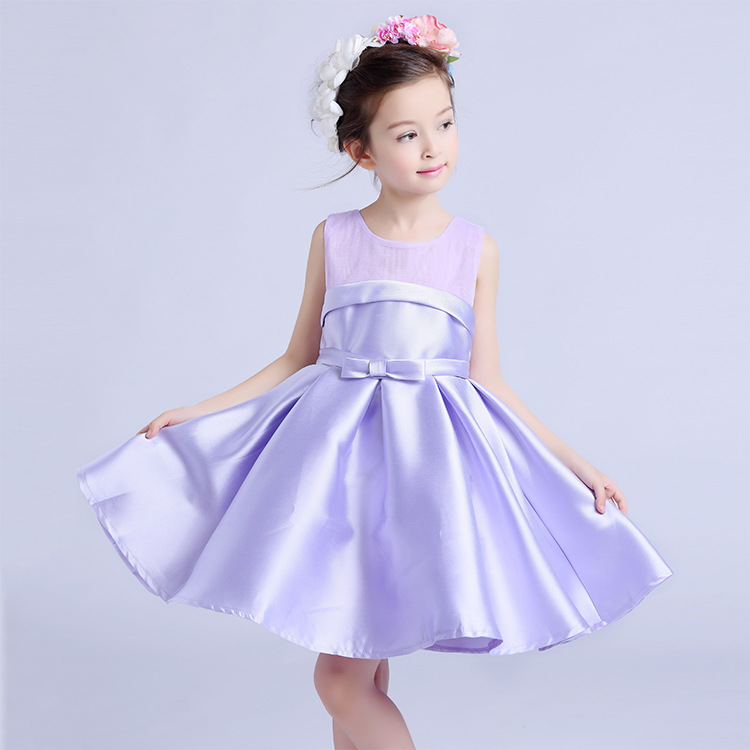 Formal Party Girls' Dresses Child Purple Flower Girl Vestidos 2017 Fashion Kids Clothes For 6 7 8 9 10 11 12 Years AKF164100 fashion sequin flower girl clothes clothing party and wedding princess dress dresses vestidos for girls3 4 5 67 8 9 10 11 years