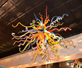 Mulitcolor Hohe Hängen Twisted Glas Kronleuchter LED 100% Hand Geblasen Glas Kronleuchter Licht Leuchte-in Kronleuchter aus Licht & Beleuchtung bei
