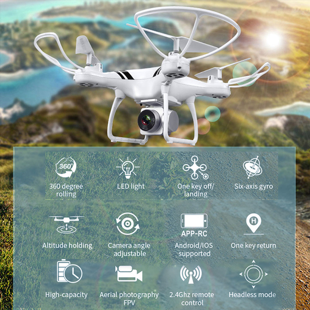 KY101S RC Drone With Camera HD Wifi FPV Altitude Hold One Key Return Landing Off Headless RC Quadcopter Drone Long Flight Time 1