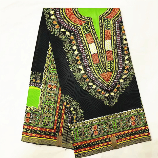 African Dashiki Print Fabric 6Yards