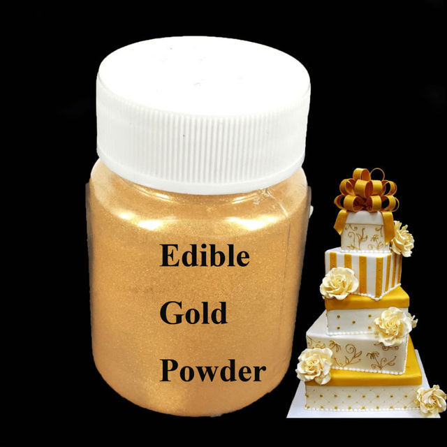 15g Edible powder Gold color Food Powder for decorate Chocolate ...