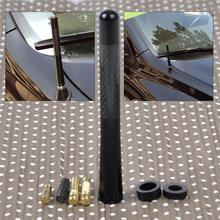 CITALL 4.7″ Aluminum Carbon Fiber Car AM/FM Radio Aerial Antenna For VW Golf Audi A3 A4 BMW X3 Mazda 3 Honda Accord Kia Forte