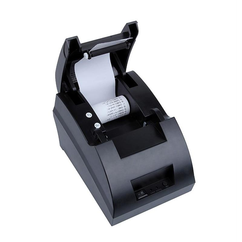 Free shipping New mini 58mm Thermal Receipt Printer Ticket POS 5890C label Printer USB Port Interface POS Printer zj 5890k mini 58mm black and white printer pos receipt thermal printer built in power light with usb port power interface