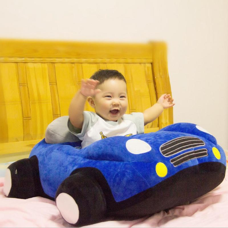 Baby Car Shape Seats Sofa Toys Car Seat Support Seat Baby Plush Without Filler Kids Learn To Sit Training Chair Leather Case