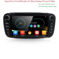 Car Stereo GPS Navigation for Ford Focus S max Kuga Mondeo Radio RDS DVD Player Multimedia Headunit Sat Nav Autoradio Bluetooth