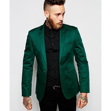 2017 New Arrival Custom made Men Suit Set Slim Wedding Suits Mens Green Groom Tuxedos Homecoming