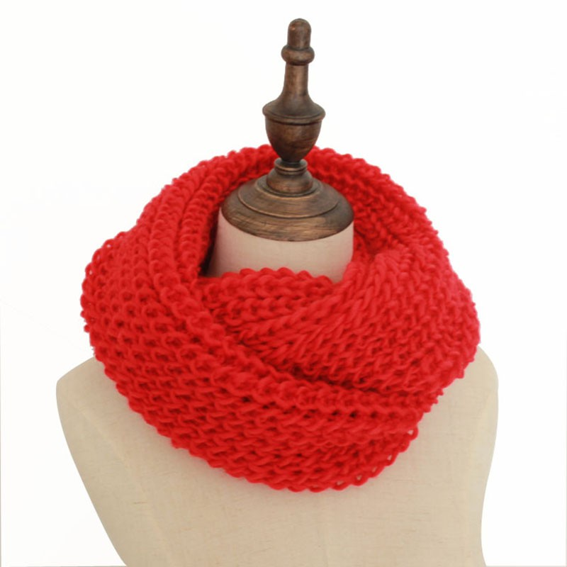 Fashion Winter Scarf Knitted Scarves Collar Neck Warmer Crochet Ring
