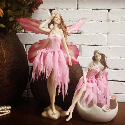 European pink flower fairy girl birthday gift, jewelry ornaments Home Furnishing, Angel Jewelry Box,Decoration CraftsEuropean pink flower fairy girl birthday gift, jewelry ornaments Home Furnishing, Angel Jewelry Box,Decoration Crafts