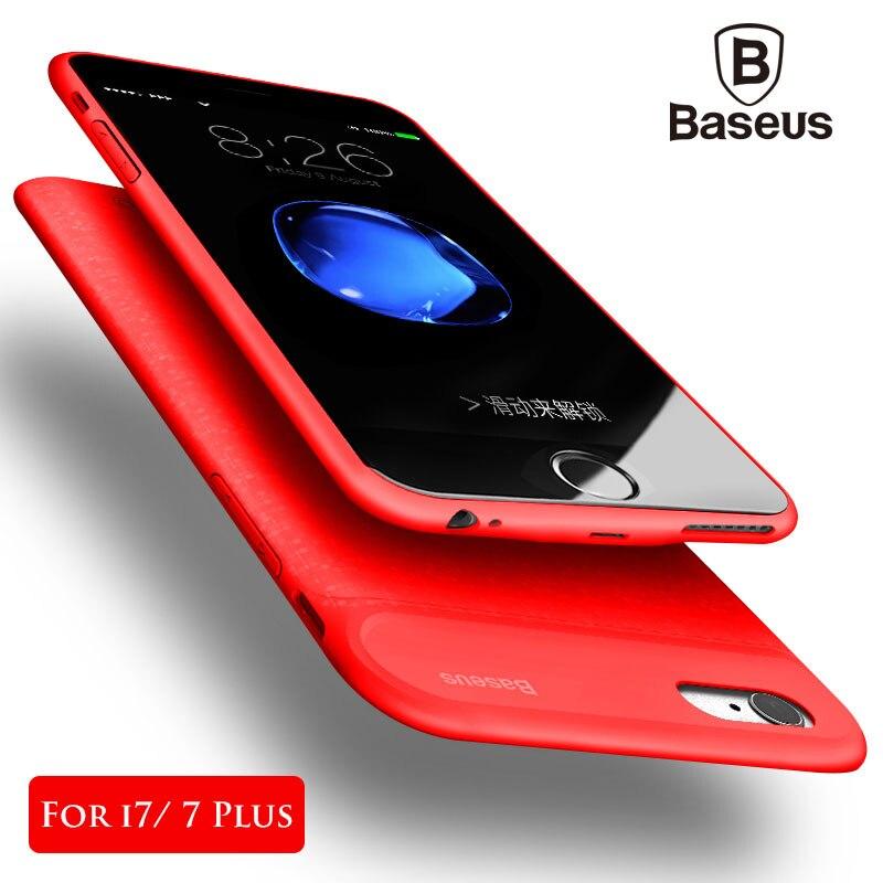 Baseus Batterie Chargeur Cas Pour iPhone 7/7 Plus 5000/7300 mAh Ultra Mince Affaire de La Banque D'alimentation De Secours Externe Cas De Charge couverture