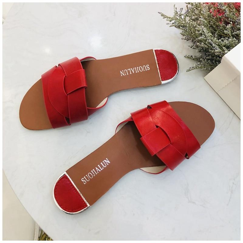 2019 New Brand Mixed Colors Women Slipper Pllus Size 35-41 Women Summer Beach Slides Flip Flops Outdoor Flat Slipper