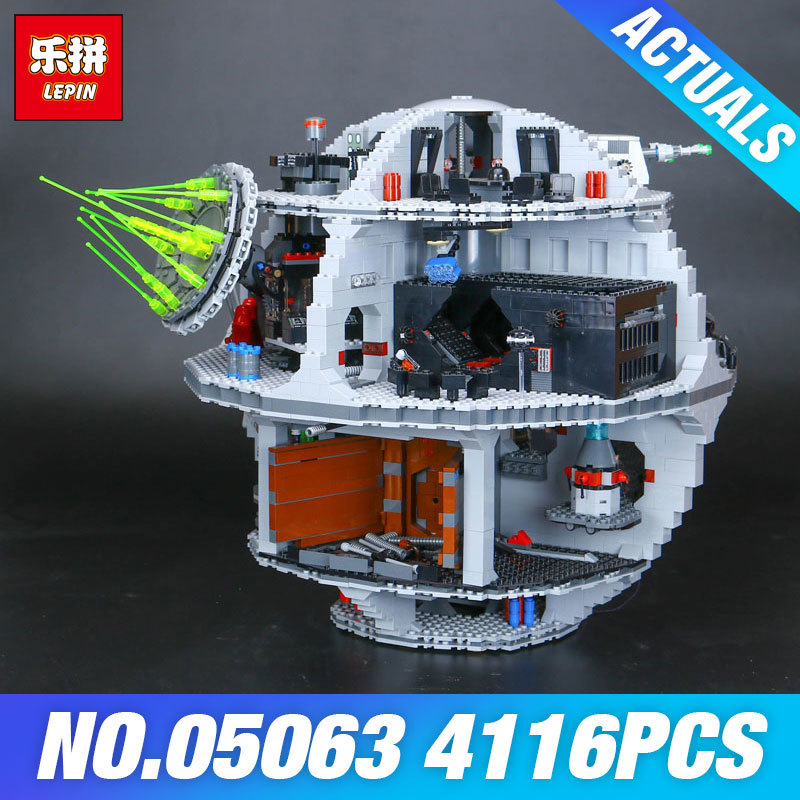 Lepin 05063 4016pcs Star Series Wars Force Waken UCS Death Star Model Building Kits Blocks Bricks Toys For Children Gifts 75159 single sale star wars superhero marvel avengers assassin s creed firenze building blocks model bricks toys for children