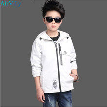 Boys Hooded Jacket Autumn Windbreaker For Teenage Boy Outerwear Spring Children Coats Kids School Clothes Teens Tops Sportswear
