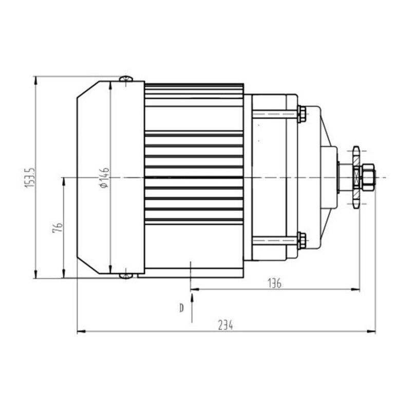 UNITEMOTOR BM1418ZXF 500 W 48 V Bürstenlosen DC Motor Elektrische Dreirad Motorrad Motor Motor E Trishaw Auto Mitte Stick rad Motoren - 3