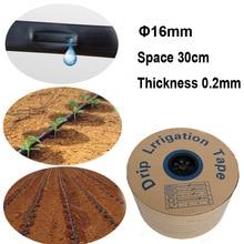 20/30/50 Meters Drip irrigation Tape 16mm Hose Watering System 0.2mm Thick Water Saving Solutions Netafim Streamline 30cm Space
