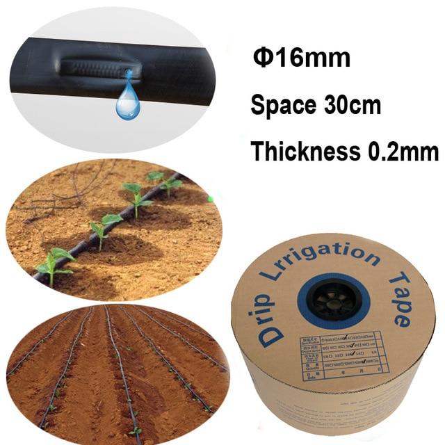 20 Вт, 30 Вт, 50 метров зубной нити с капельная Оросительная лента 16 мм шланг для полива Системы 0,2 мм толщиной экономии воды решения Netafim оптимизировать 30 см свободного пространства