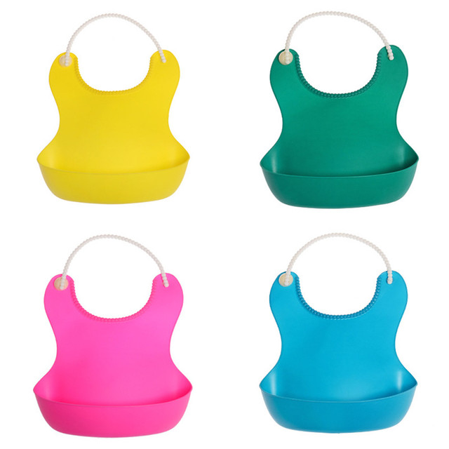 Cute Kid Infant Bibs Baby Soft Silicone Bib Waterproof Saliva Dripping Bibs Toddlers Children Feeding Tools Boy Girl Bibs apron