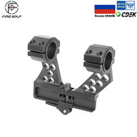 Hunting Scopes Quick Detach Side Rail Scope Mount Black 25mm/30mm Ring For AK47 Attaches to rifles with a built in AK
