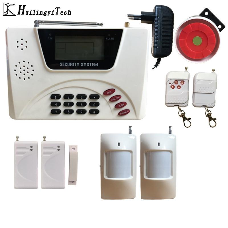 GSM Alarm Wireless SIM Home Alarm System RFID Burglar Security LCD Keyboard WIFI Home Alarm System Sensor Kit For House Security