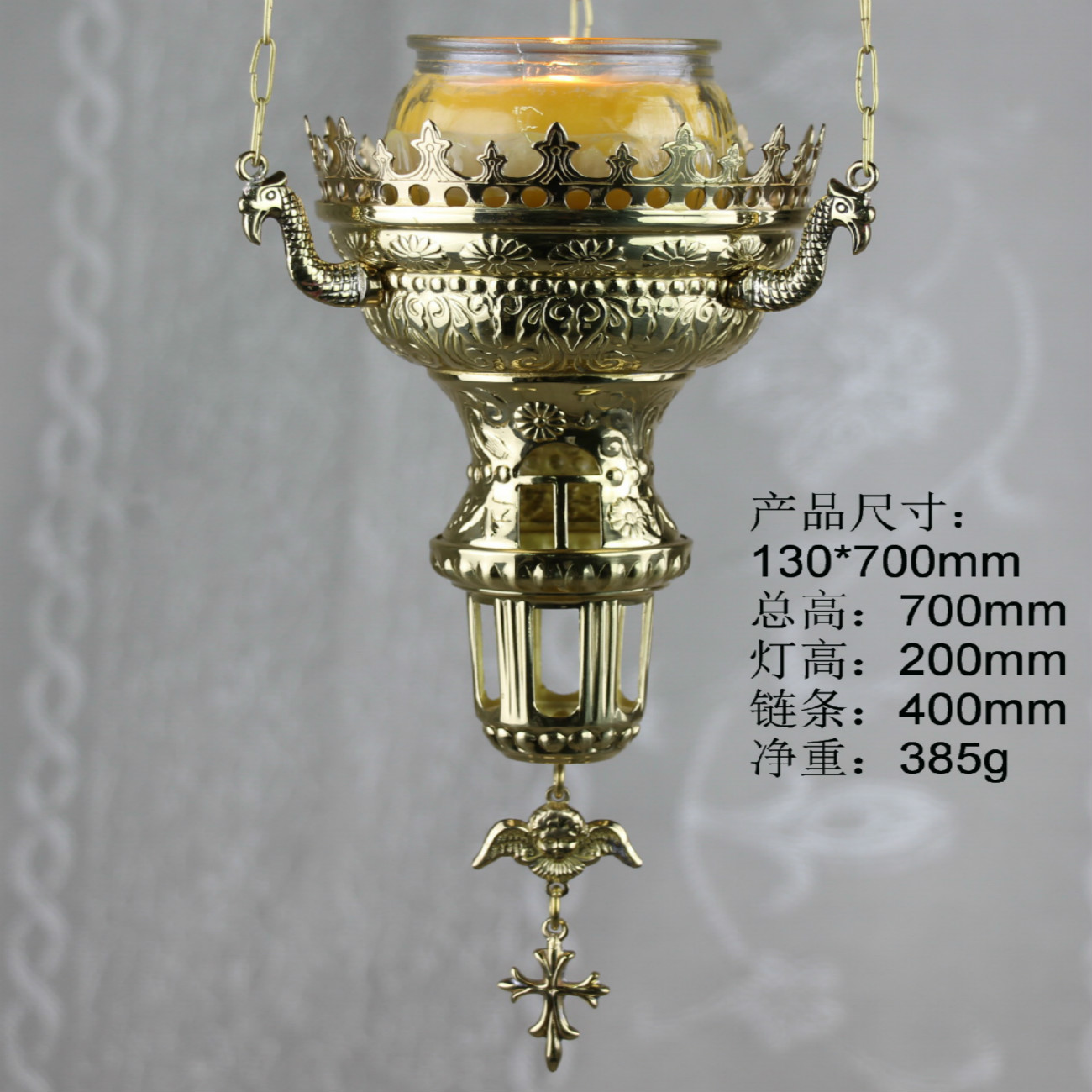 Good Church Copper Oil Lamp, Suitable For Family Or Churches, Great Holy Things Candlestick CandleHolder Candler Lantern Burner