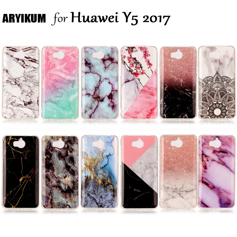 Luxury Marble Stone <font><b>Case</b></font> For <font><b>Huawei</b></font> <font><b>Y6</b></font> <font><b>2017</b></font> <font><b>Case</b></font> <font><b>Huawei</b></font> mya l22 l11 l41 Soft <font><b>Silicone</b></font> Back Covers For <font><b>Huawei</b></font> Y5 <font><b>2017</b></font> Phone <font><b>Cases</b></font> image