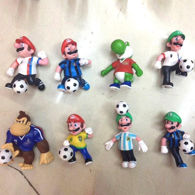 ขายส่ง 60 ชิ้น/เซ็ต Super Mario ตัวเลข Bros Mario Yoshi Luigi ตัวเลขการกระทำฟุตบอลสะสมรุ่น action ของเล่นของขวัญ-ใน ฟิกเกอร์แอคชันและของเล่น จาก ของเล่นและงานอดิเรก บน   1